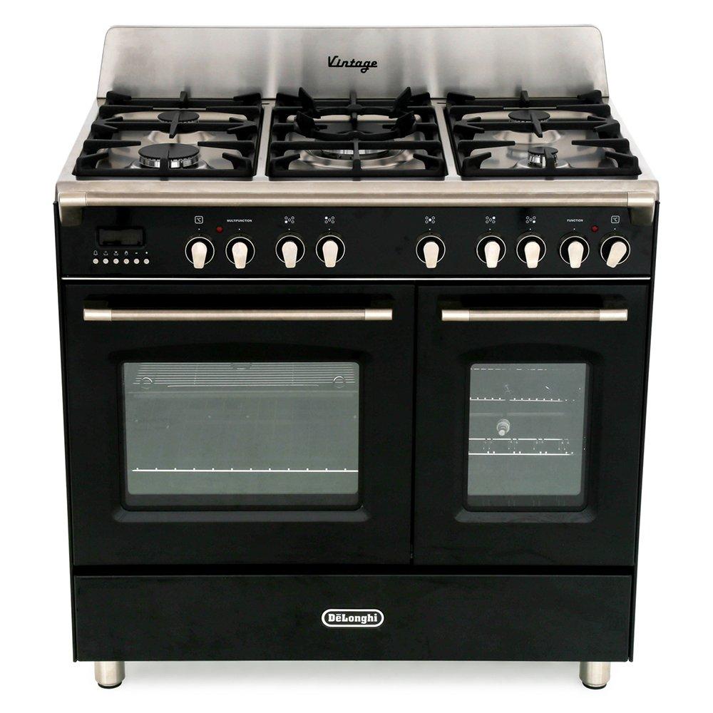 DeLonghi DVTR 906-DF/BL 90cm Dual Fuel Range Cooker