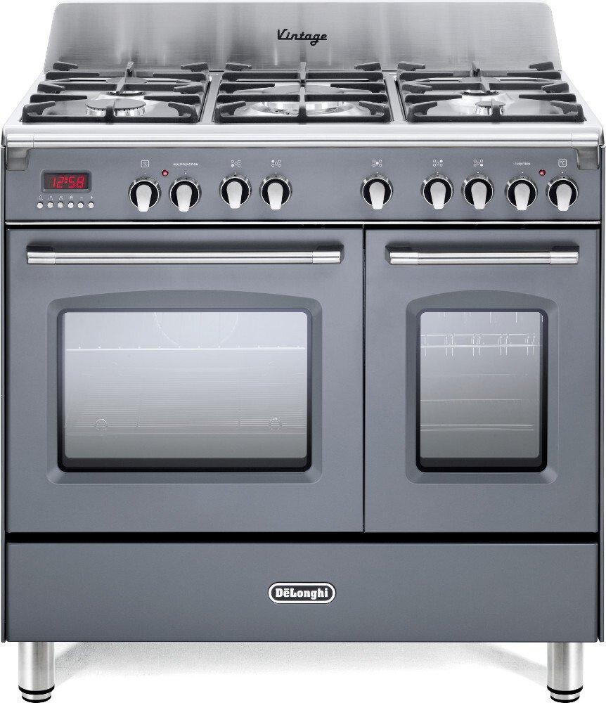 DeLonghi DVTR 906-DF/SLATE 90cm Dual Fuel Range Cooker