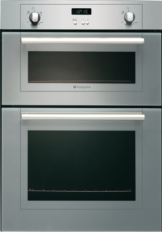 Gas Stoves Double Ovens Buy Hotpoint DY330GX Double Built In Gas Oven - Stainless ...