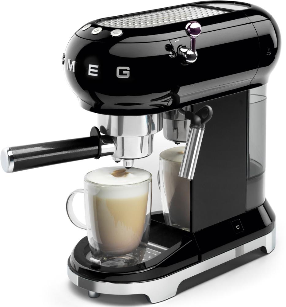 Smeg ECF01BLUK 50's Retro Style Espresso Coffee Machine ...