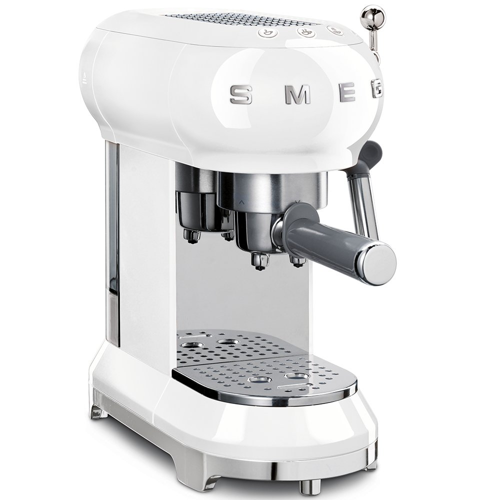 Smeg ECF01WHUK Retro Espresso Coffee Machine