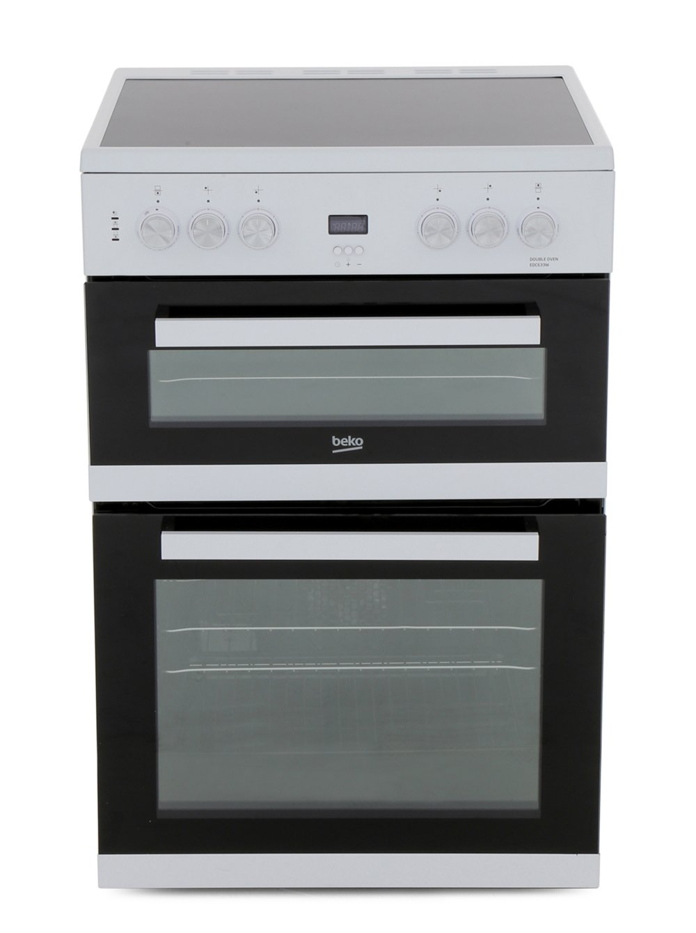 Beko EDC633W Ceramic Electric Cooker with Double Oven