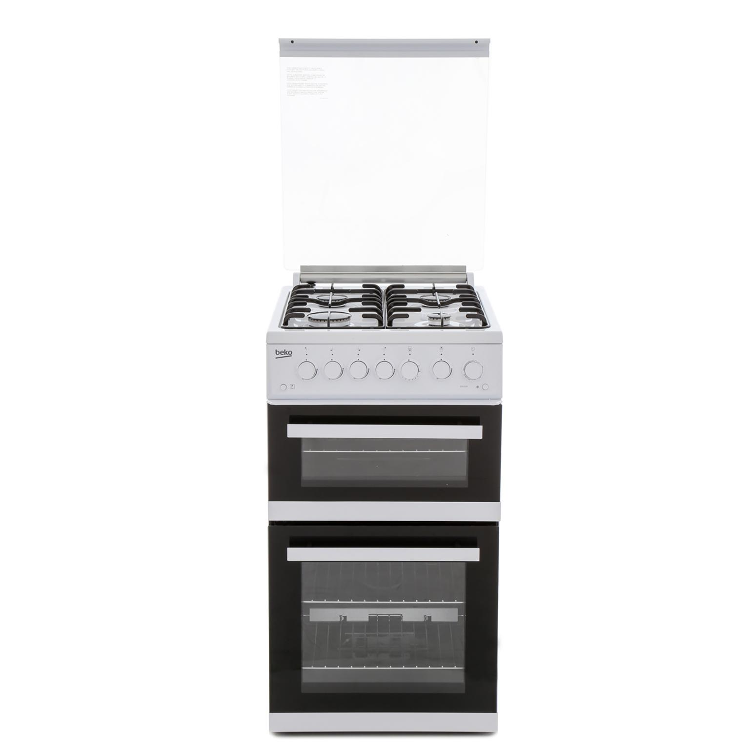 Beko EDG504W Gas Cooker Separate Grill