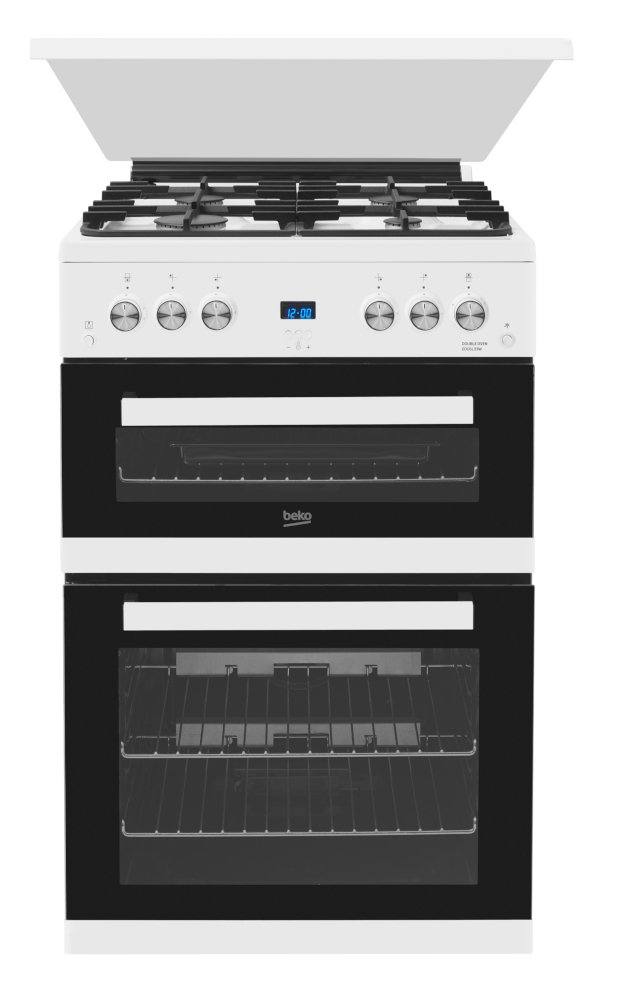 Beko EDG6L33W Gas Cooker with Double Oven