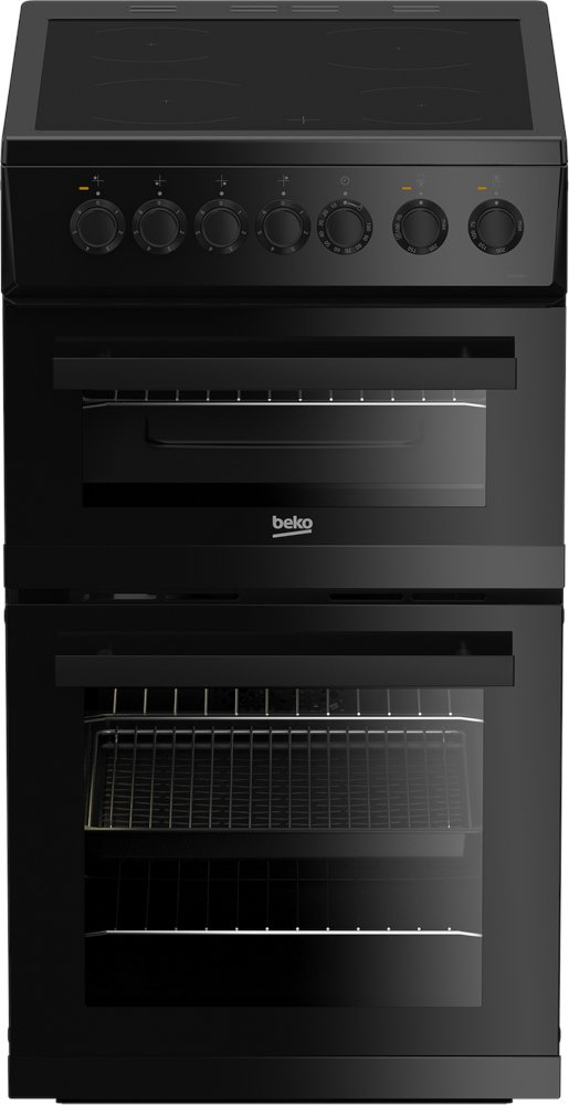 Beko EDVC503B Ceramic Electric Cooker with Double Oven