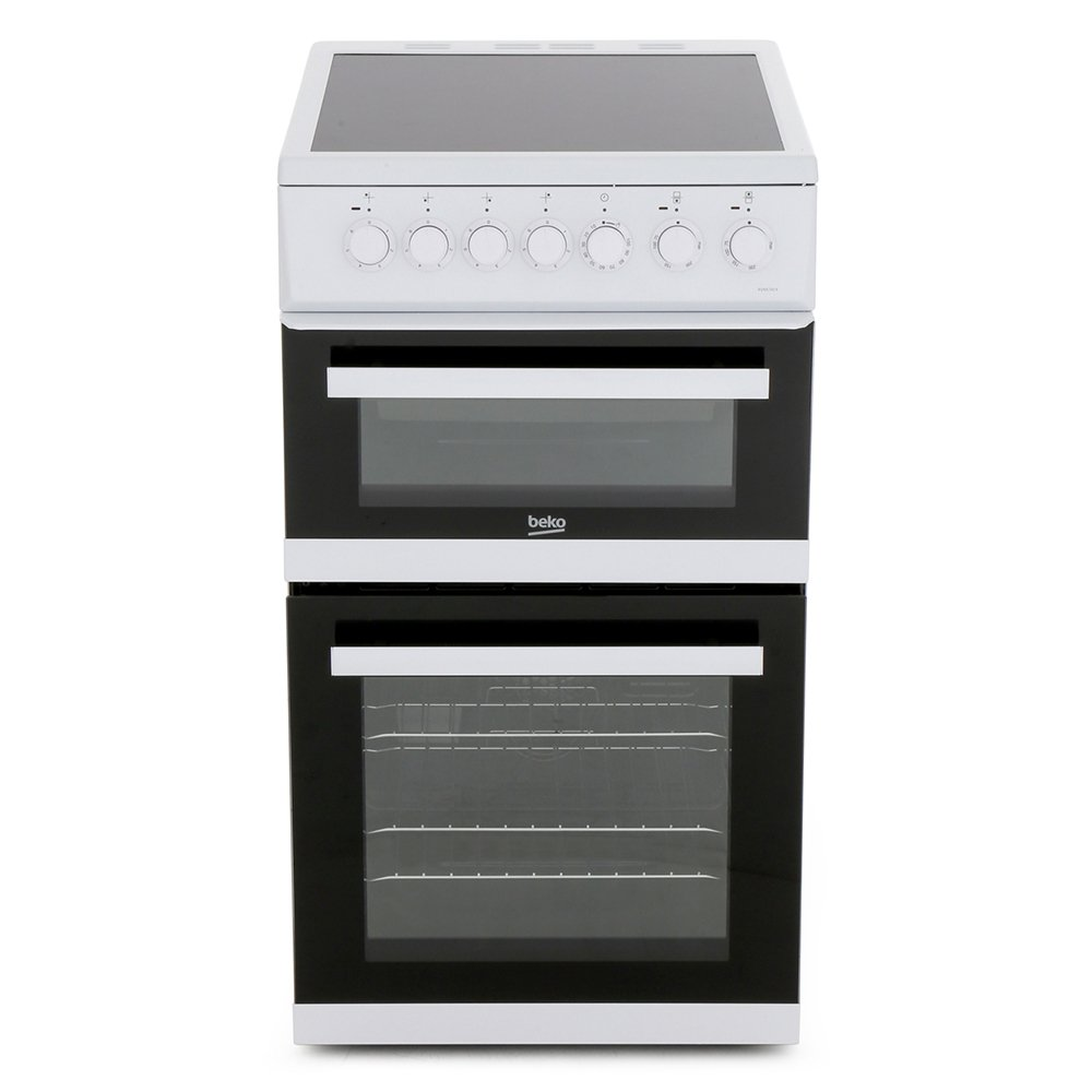 Beko EDVC503W Ceramic Electric Cooker with Double Oven