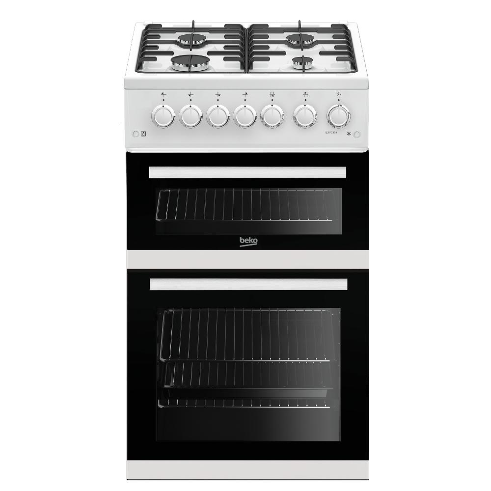 Beko EDVG505W Gas Cooker with Double Oven