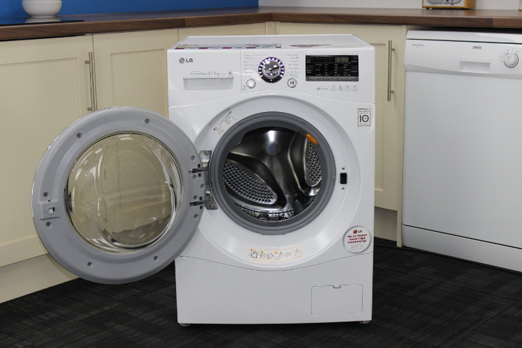 buy lg f14a8yd washer dryer white and chrome door rim. Black Bedroom Furniture Sets. Home Design Ideas