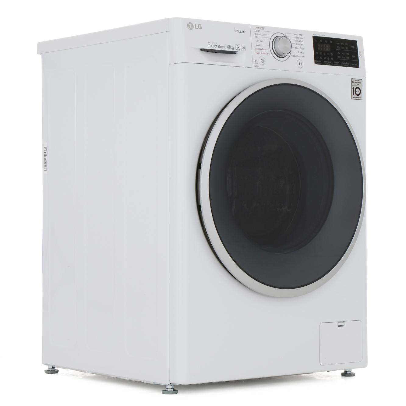 LG F4J6JY1W 10KG Washing Machine with Steam and Inverter Direct Drive Motor
