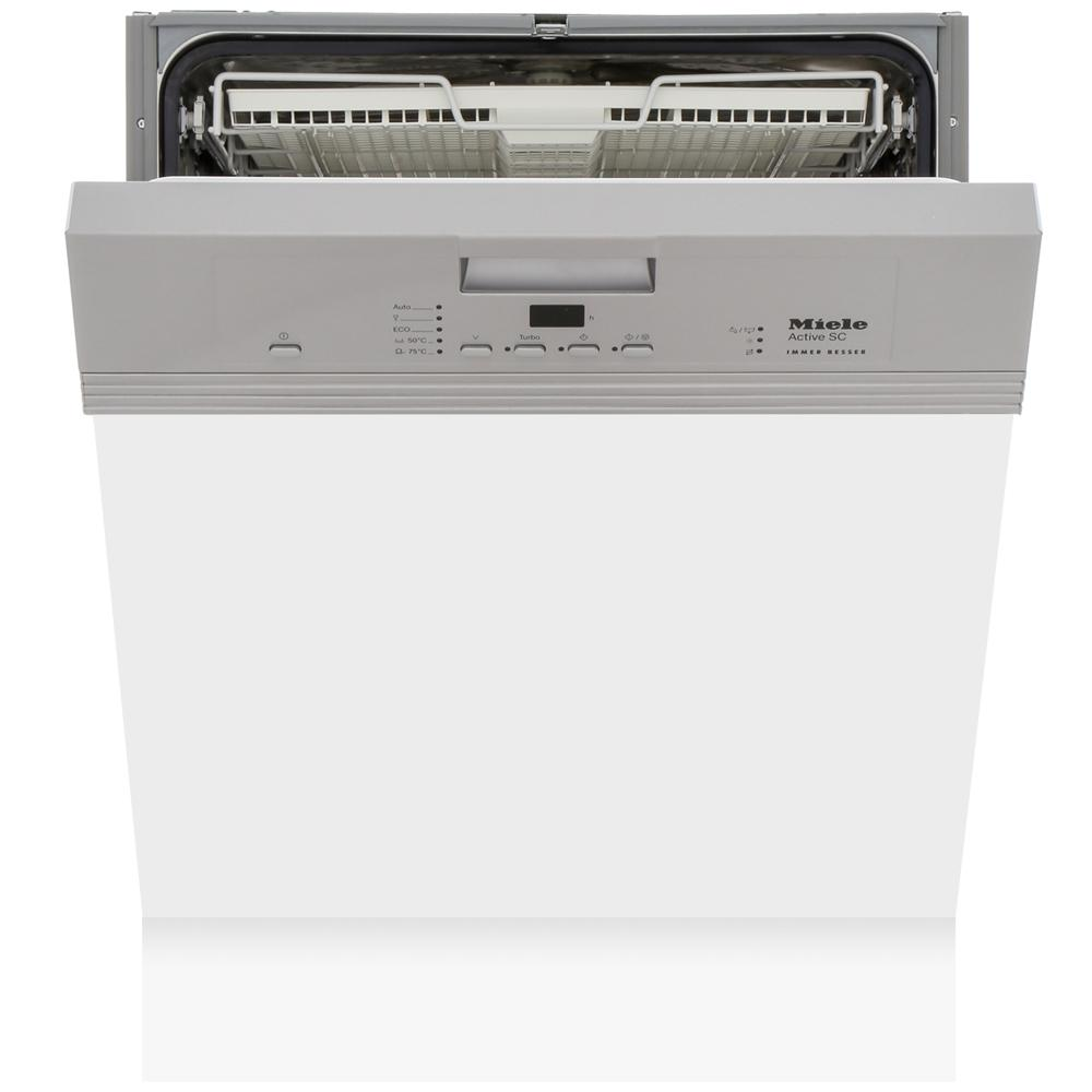 Miele G4203SCi CleanSteel Built In Semi Integrated Dishwasher