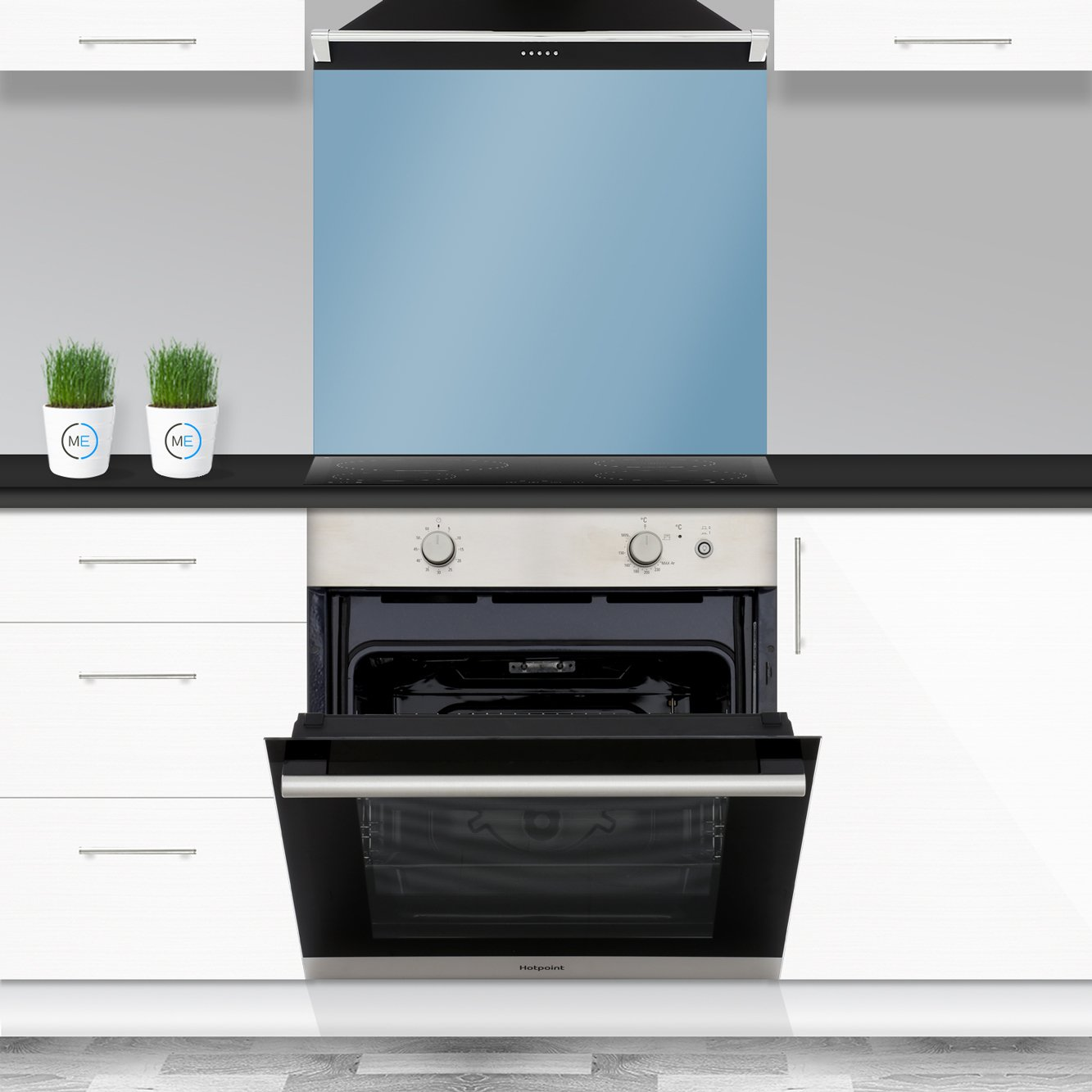 Built In Gas Ovens Part - 18: Hotpoint GA2124IX Single Built In Gas Oven