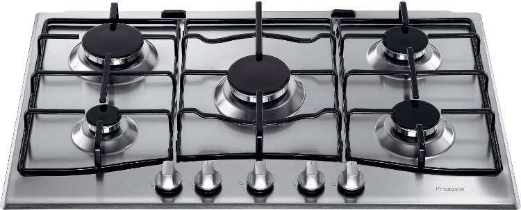 buy hotpoint gc750x 5 burner gas hob stainless steel. Black Bedroom Furniture Sets. Home Design Ideas