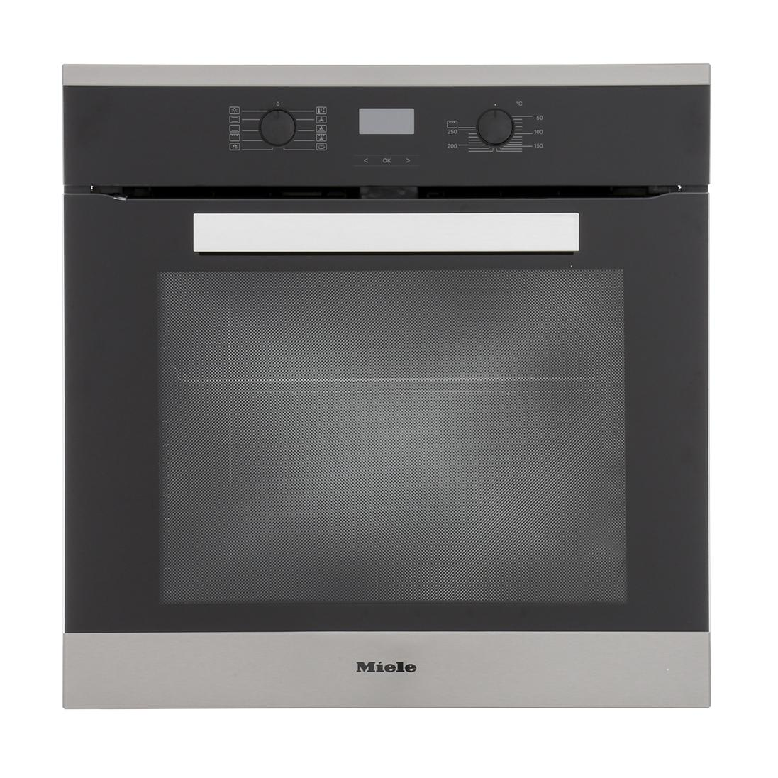 Miele PureLine H2661BP-1 CleanSteel Single Built In Electric Oven