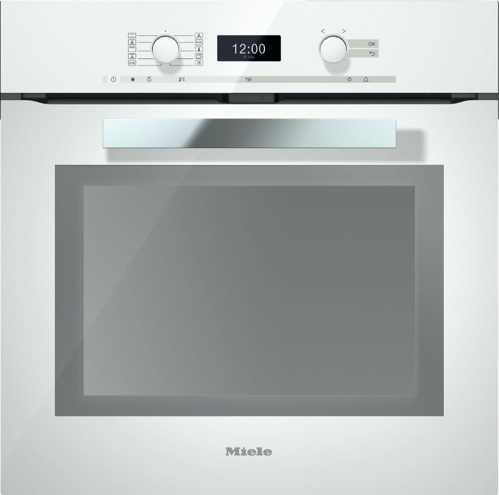 Miele PureLine H6460BP Brilliant White Single Built In Electric Oven