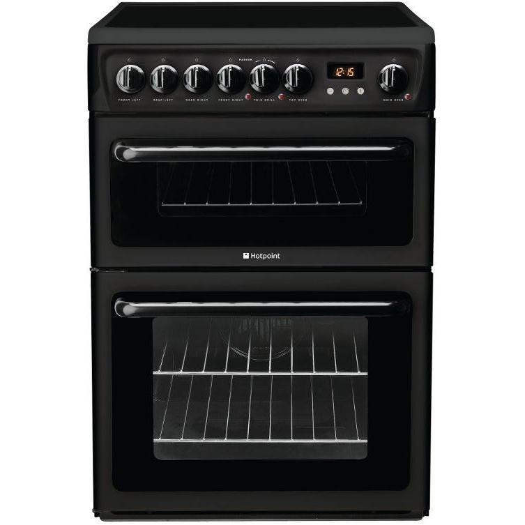 Hotpoint HAE60K Ceramic Electric Cooker with Double Oven