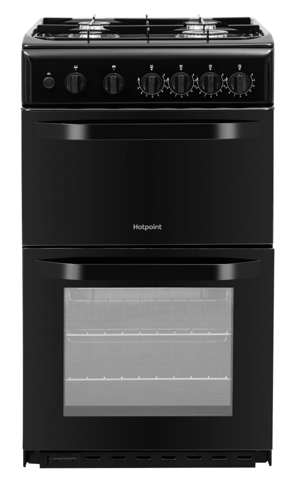 Hotpoint HD5G00KCB/UK Gas Cooker Separate Grill