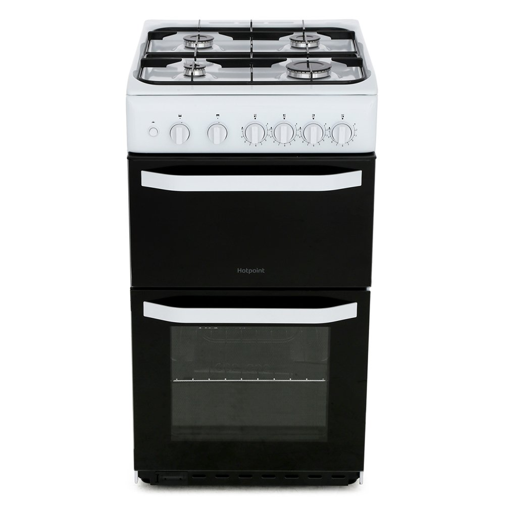 Hotpoint HD5G00KCW/UK Gas Cooker Separate Grill