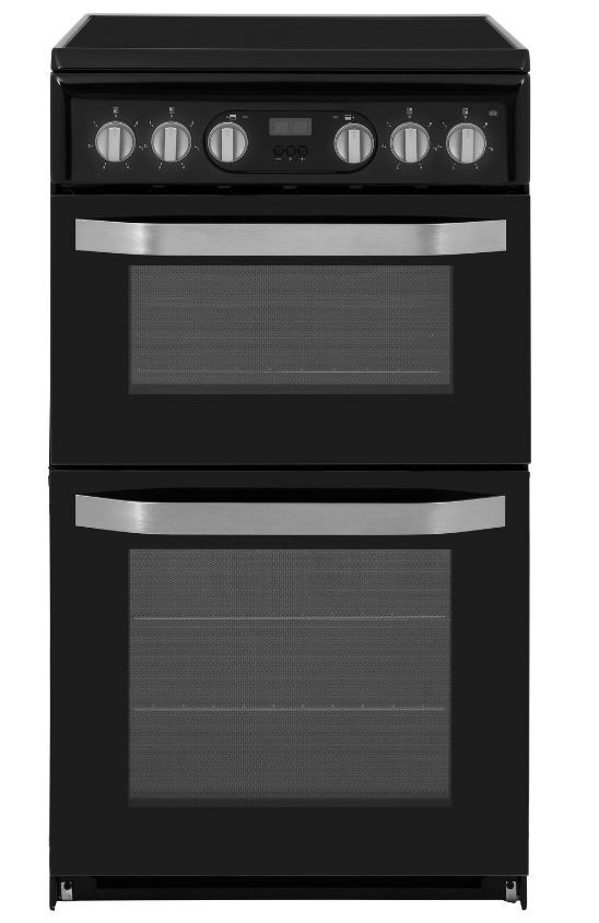 Hotpoint HD5V93CCB/UK Ceramic Electric Cooker with Double Oven
