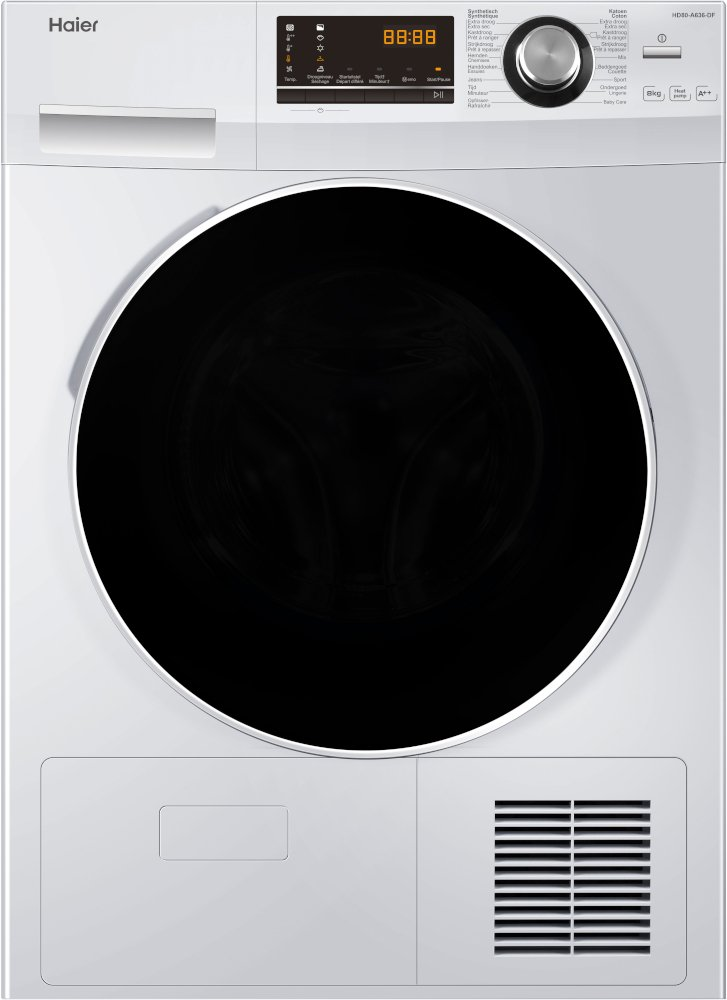 Haier HD80-A636 Condenser Dryer with Heat Pump Technology