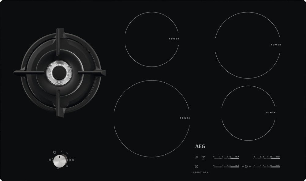 buy aeg hd955100nb induction hob with gas wok burner. Black Bedroom Furniture Sets. Home Design Ideas