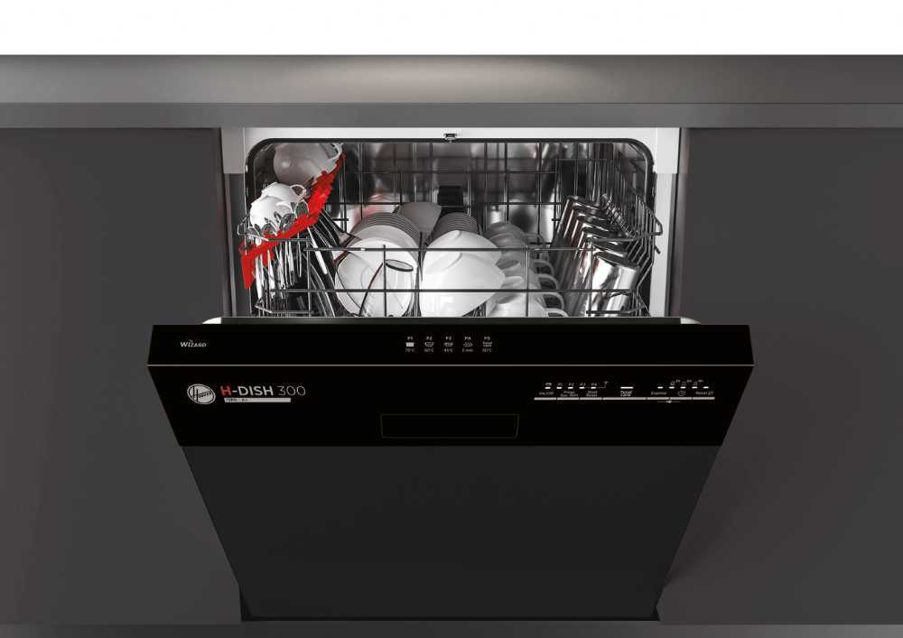 Hoover HDSN 1L380PB-80 Built In Semi Integrated Dishwasher