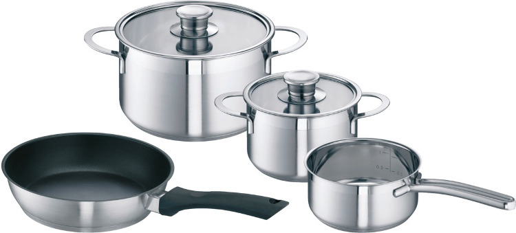 Bosch HEZ390042 Stainless Steel Saucepan Set