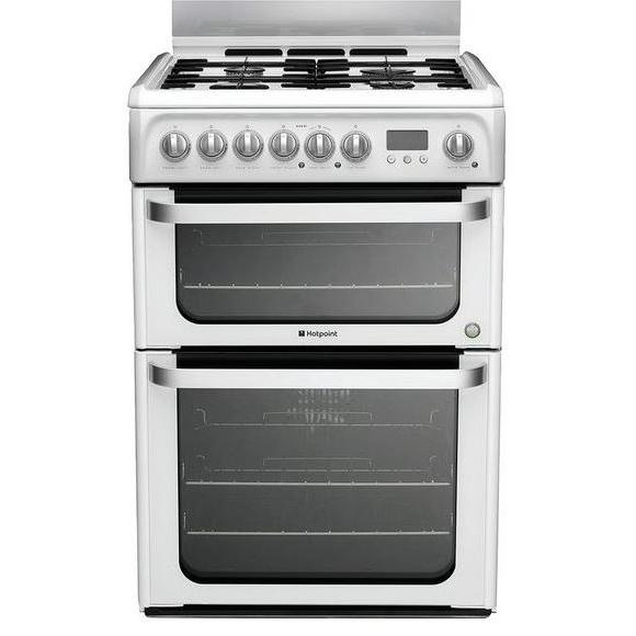 Hotpoint Ultima HUD61P Dual Fuel Cooker