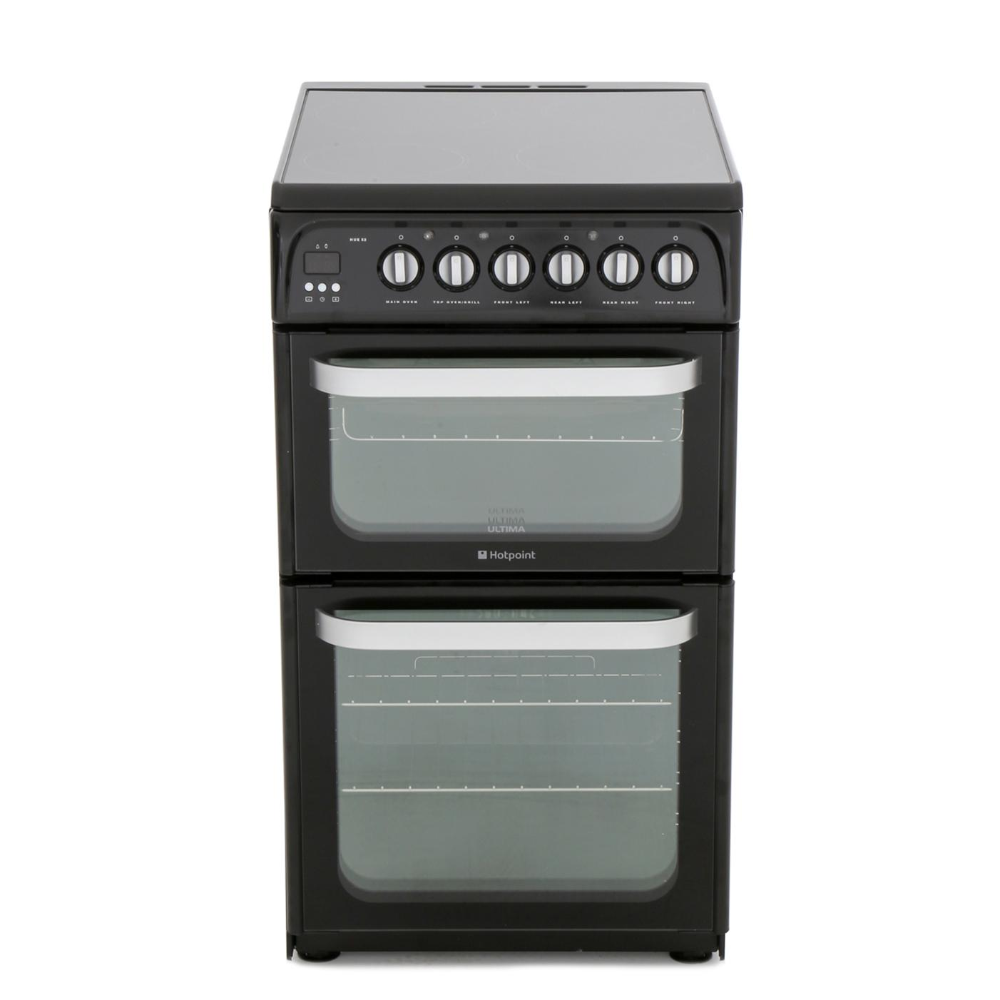 Hotpoint HUE52KS Ceramic Electric Cooker with Double Oven