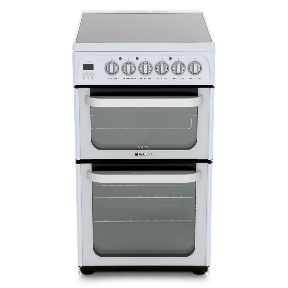 Hotpoint HUE52PS Ceramic Electric Cooker with Double Oven
