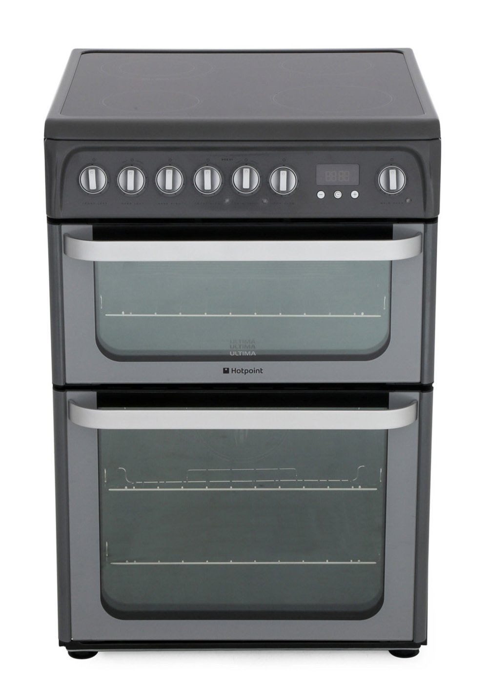 Hotpoint HUE61GS Ceramic Electric Cooker with Double Oven