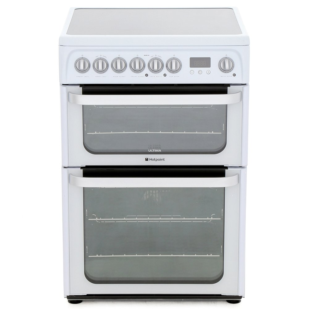 Hotpoint HUE61PS Ceramic Electric Cooker with Double Oven