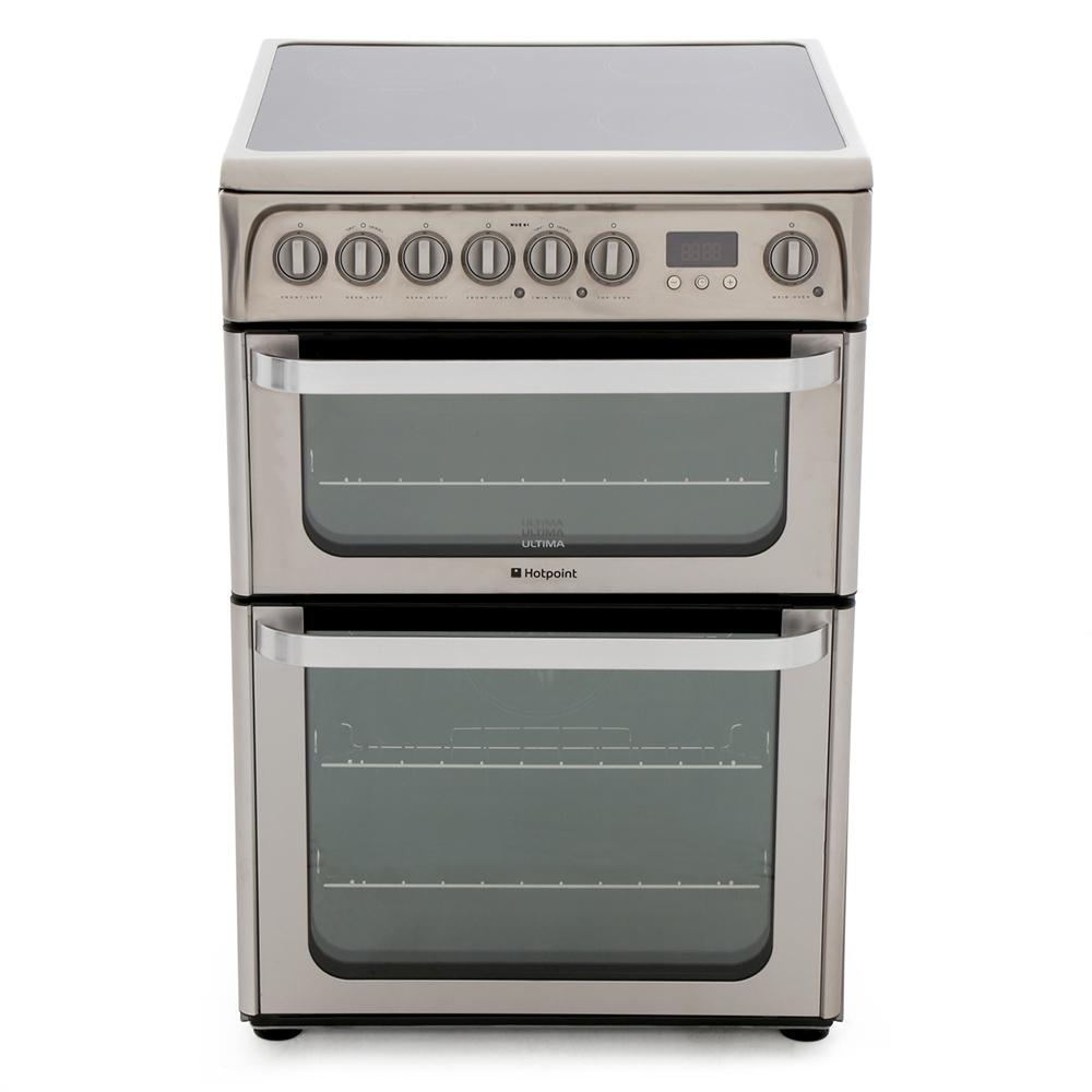 Hotpoint HUE61XS Ceramic Electric Cooker with Double Oven