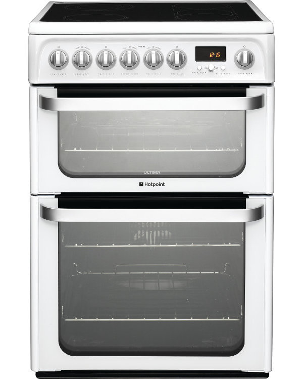 Hotpoint HUE62PS Ceramic Electric Cooker with Double Oven