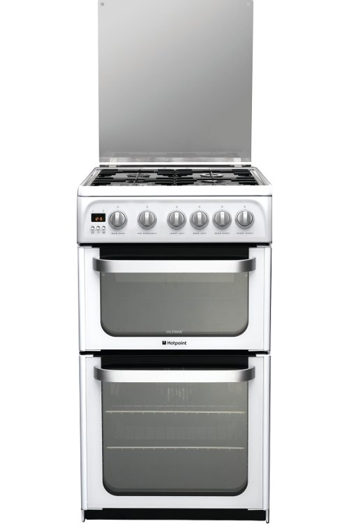 Hotpoint Ultima HUG52P Gas Cooker with Double Oven