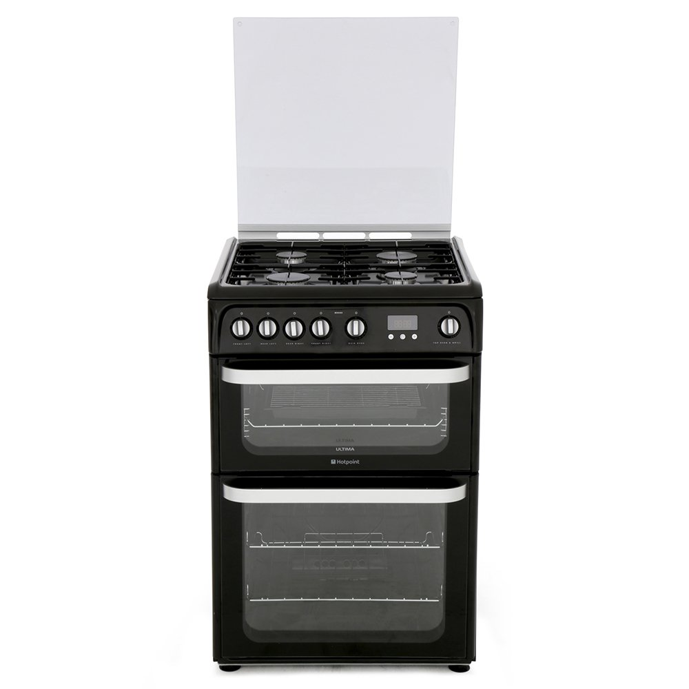 Hotpoint Ultima HUG61K Gas Cooker with Double Oven