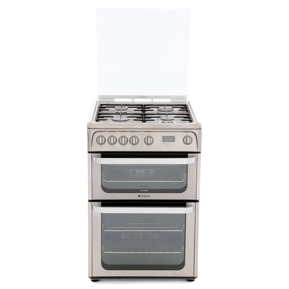 Hotpoint Ultima HUG61X Gas Cooker with Double Oven