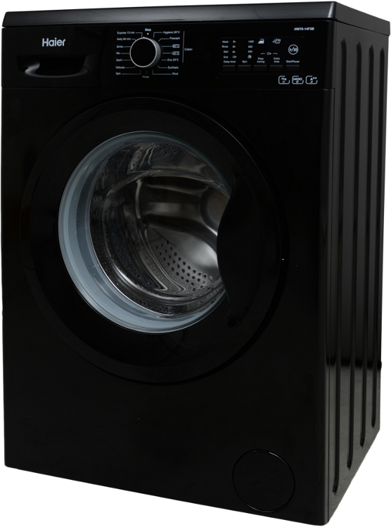 haier hw70 14f2 washing machine black buy online today. Black Bedroom Furniture Sets. Home Design Ideas
