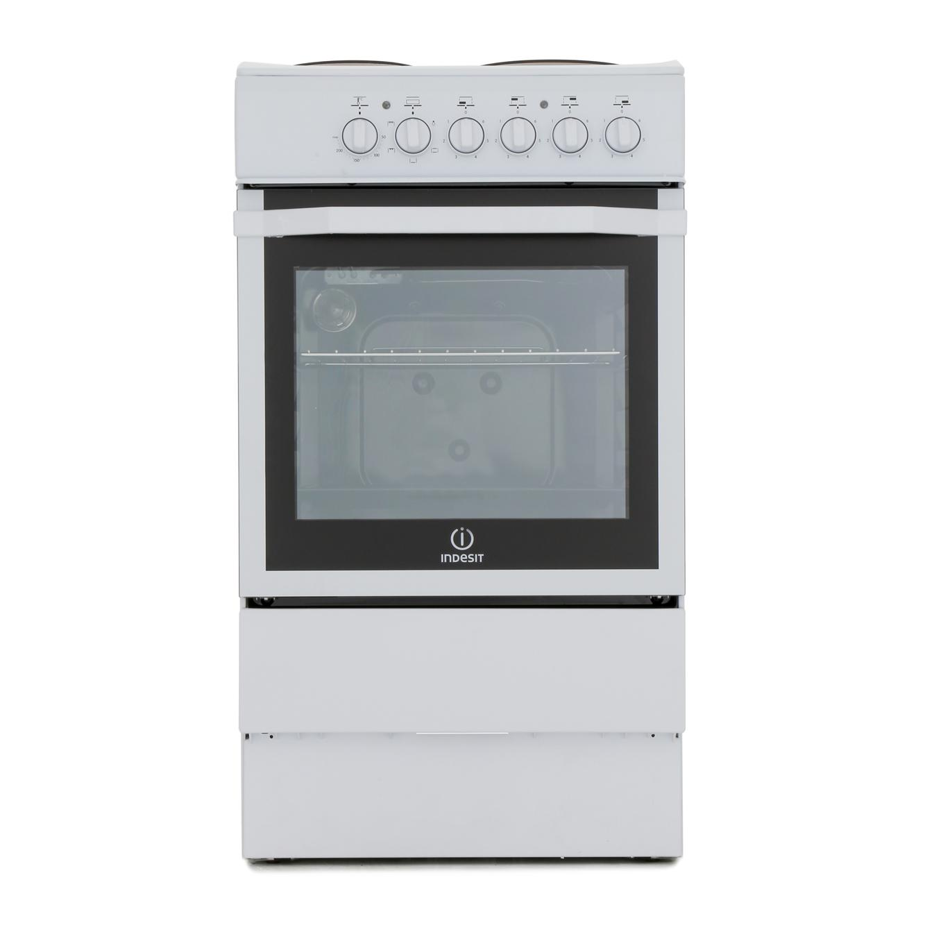 Awesome Single Oven Electric Cooker Part - 13: Indesit I5ESHW Solid Plate Electric Cooker With Single Oven