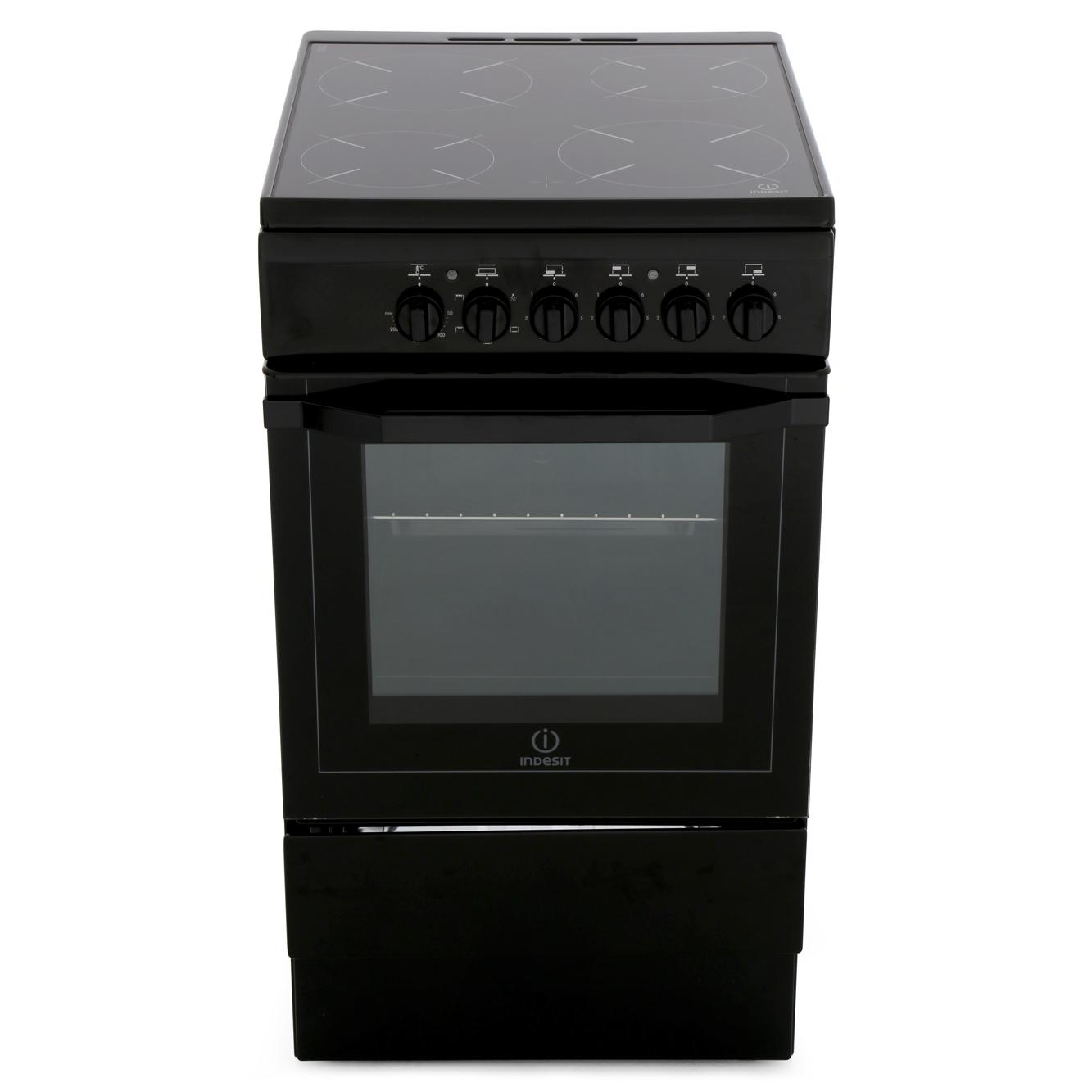 Indesit I5VSHK Ceramic Electric Cooker with Single Oven