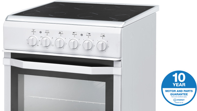 Lovely Single Oven Electric Cooker Part - 5: ... Indesit I5VSHW Electric Cooker With Single Oven