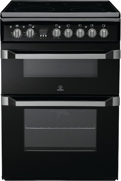 Indesit Advance ID60C2K Ceramic Electric Cooker with Double Oven