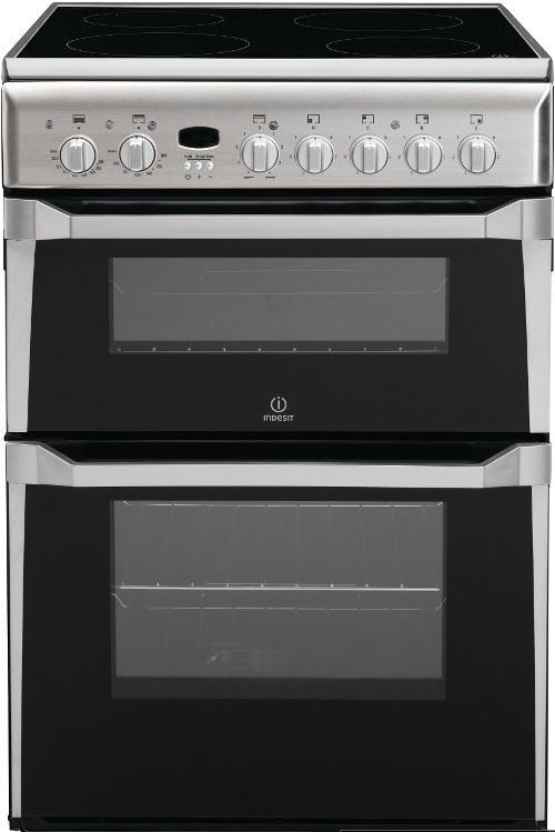 Indesit ID60C2X Ceramic Electric Cooker with Double Oven