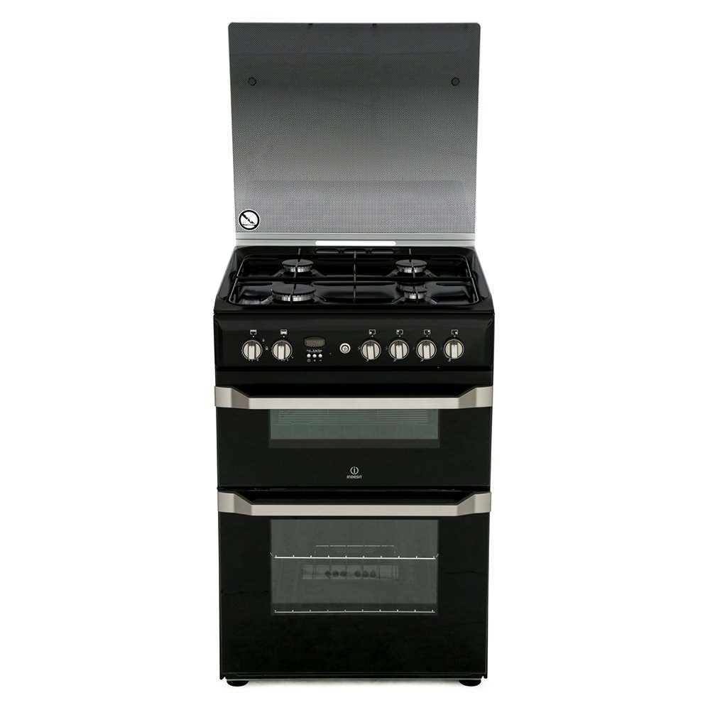 Indesit ID60G2K Gas Cooker with Double Oven