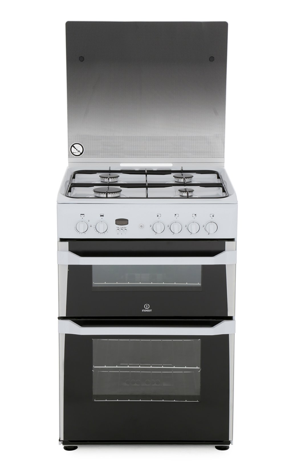 Indesit ID60G2W Gas Cooker with Double Oven