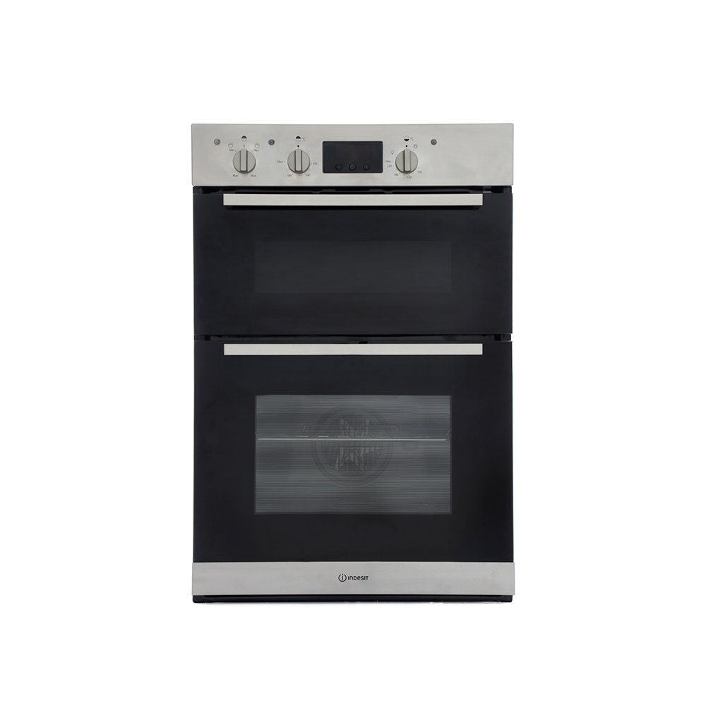 Indesit IDD6340IX Double Built In Electric Oven