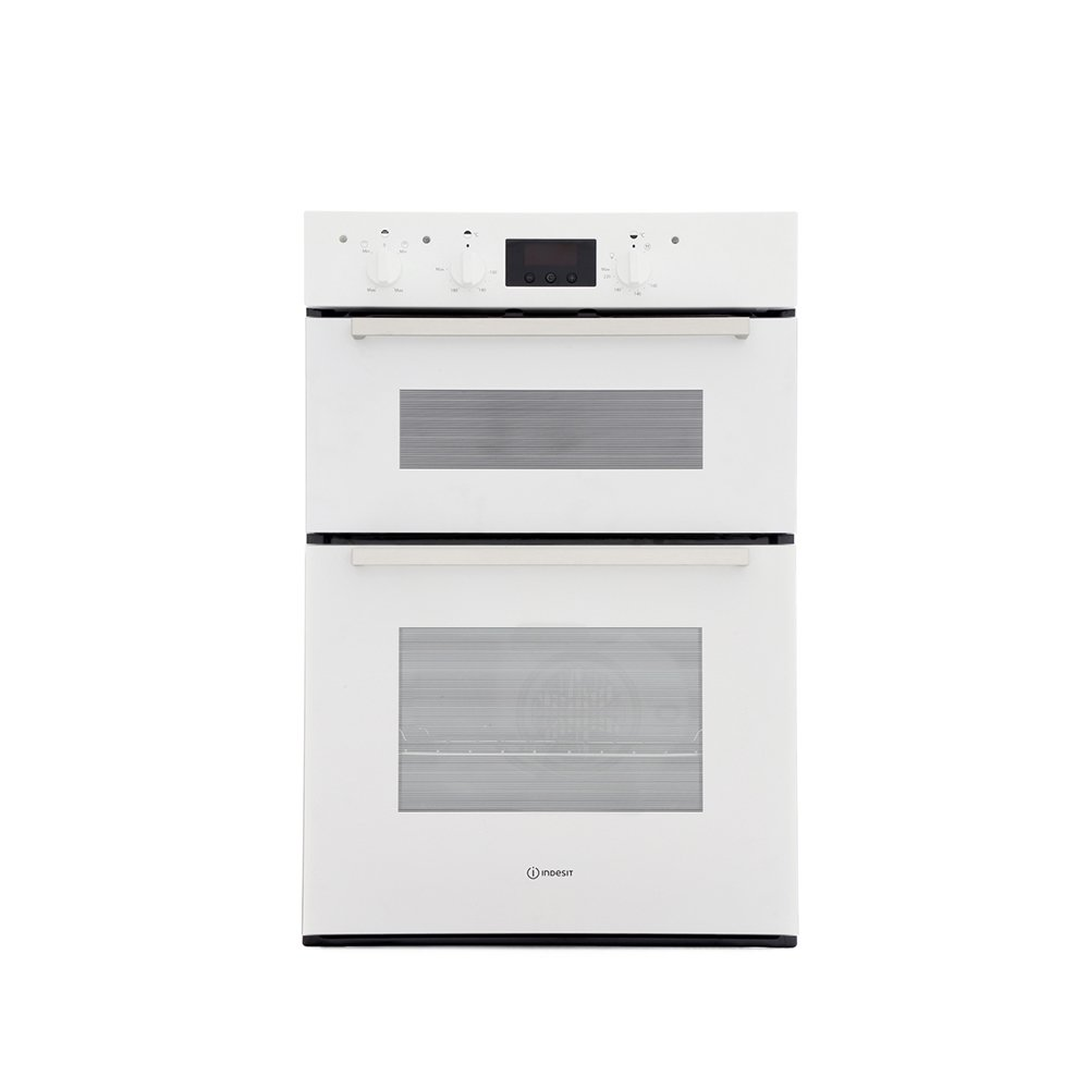 Indesit IDD6340WH Double Built In Electric Oven
