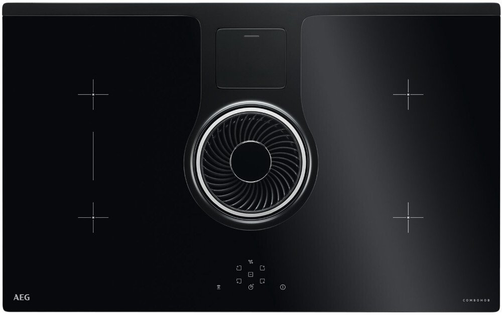 AEG IDE84242IB Induction ComboHob with Integrated Hood
