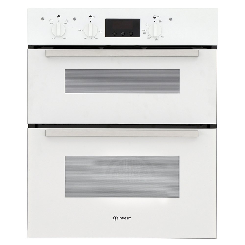 Indesit IDU6340WH Double Built Under Electric Oven