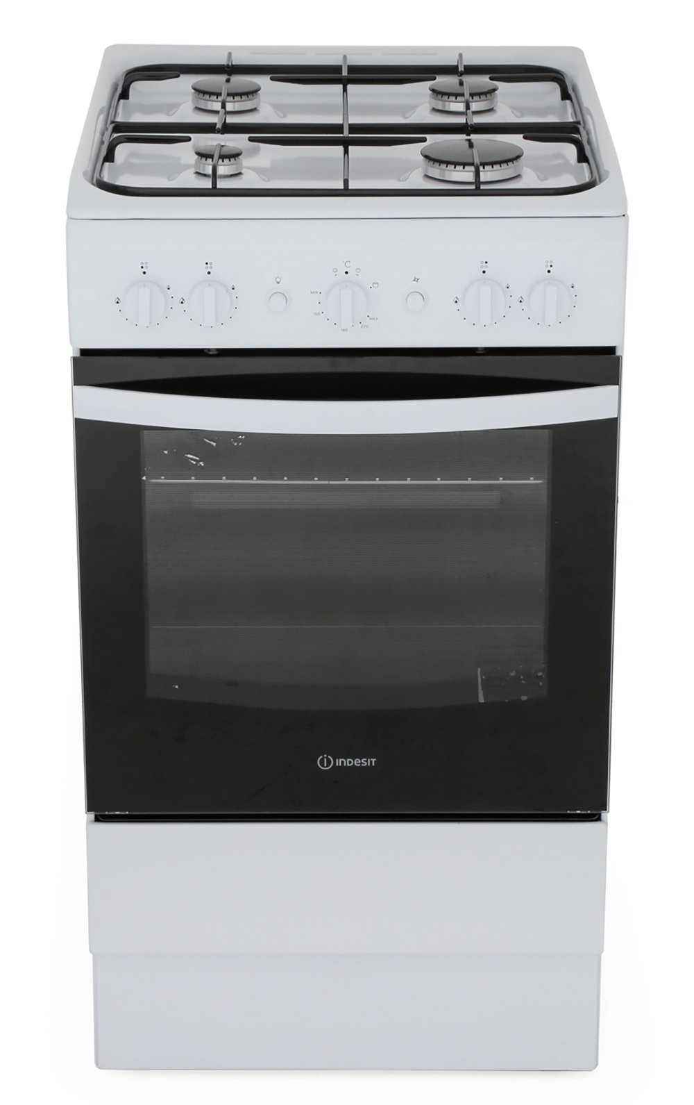 Indesit IS5G1KMW/U Gas Cooker with Single Oven