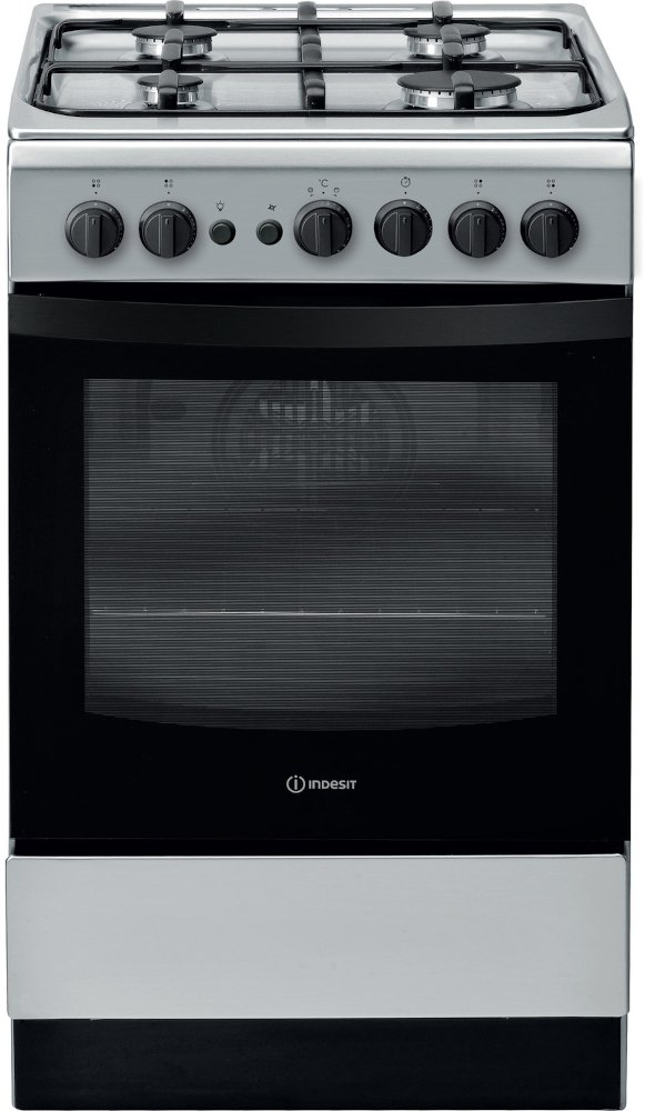 Indesit IS5G1PMSS/UK Gas Cooker with Single Oven